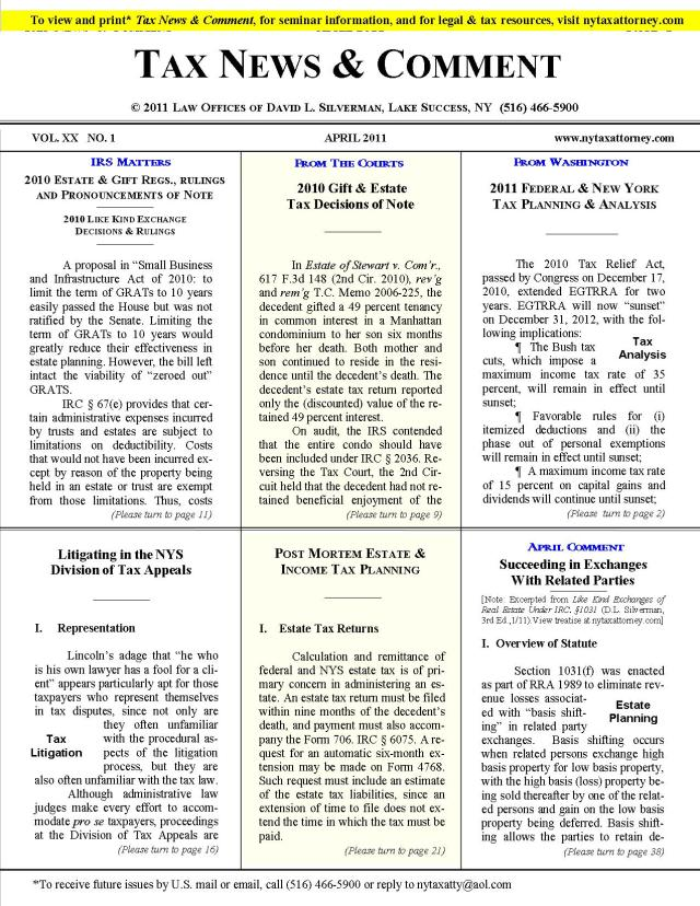 Tax News & Comment -- April 2011