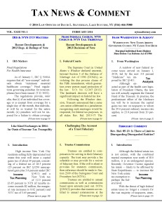 Tax News & Comment -- February 2014