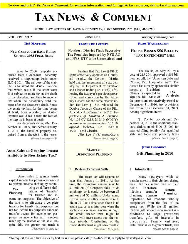 Tax News & Comment -- June 2010