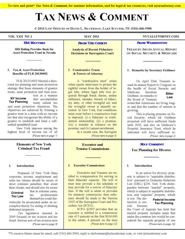 Tax News & Comment -- May 2013