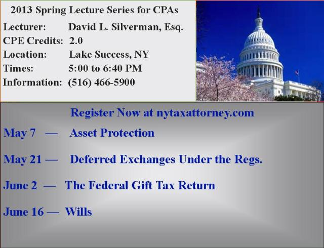 2013 Spring Lecture Series